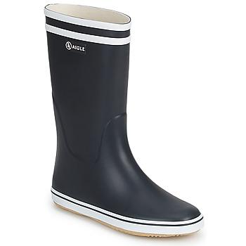 Παπούτσια Γυναίκα Μπότες βροχής Aigle MALOUINE Marine / Άσπρο