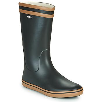Παπούτσια Γυναίκα Μπότες βροχής Aigle MALOUINE Black / Camel