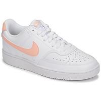 Παπούτσια Γυναίκα Χαμηλά Sneakers Nike COURT VISION LOW Άσπρο / Ροζ