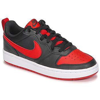Παπούτσια Παιδί Χαμηλά Sneakers Nike COURT BOROUGH LOW 2 GS Black / Red