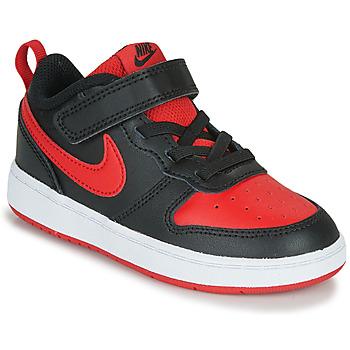 Παπούτσια Παιδί Χαμηλά Sneakers Nike COURT BOROUGH LOW 2 TD Black / Red
