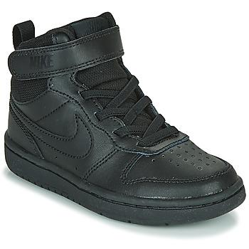 Ψηλά Sneakers Nike COURT BOROUGH MID 2 PS ΣΤΕΛΕΧΟΣ: Δέρμα & ΕΠΕΝΔΥΣΗ: Ύφασμα & ΕΣ. ΣΟΛΑ: Ύφασμα & ΕΞ. ΣΟΛΑ: Καουτσούκ