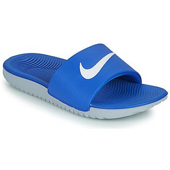 Παπούτσια Παιδί σαγιονάρες Nike KAWA GS Μπλέ / Άσπρο