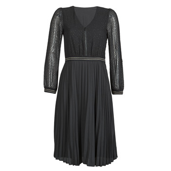 Υφασμάτινα Γυναίκα Κοντά Φορέματα One Step FR30061 Black
