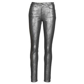 Υφασμάτινα Γυναίκα Παντελόνια Πεντάτσεπα Emporio Armani 6H2J20 Grey / Argenté