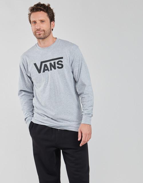 Υφασμάτινα Άνδρας Μπλουζάκια με μακριά μανίκια Vans VANS CLASSIC LS Grey