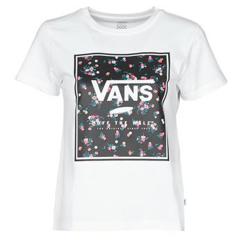 Υφασμάτινα Γυναίκα T-shirt με κοντά μανίκια Vans BOXED IN BOXY Άσπρο
