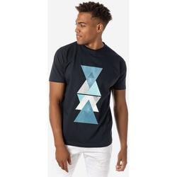 Υφασμάτινα Άνδρας T-shirt με κοντά μανίκια Brokers ΑΝΔΡΙΚΟ T-SHIRT MARINE TRIANGLES MARINE