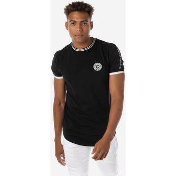 T-shirt με κοντά μανίκια Brokers ΑΝΔΡΙΚΟ T-SHIRT CURVED ΜΑΥΡΟ