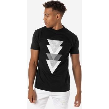 Υφασμάτινα Άνδρας T-shirt με κοντά μανίκια Brokers ΑΝΔΡΙΚΟ T-SHIRT ΜΑΥΡΟ PYRAMIDS Μαύρο