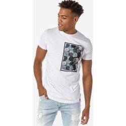 Υφασμάτινα Άνδρας T-shirt με κοντά μανίκια Brokers ΑΝΔΡΙΚΟ T-SHIRT ΛΕΥΚΟ ΜΕ ΣΤΑΜΠΑ Λευκό