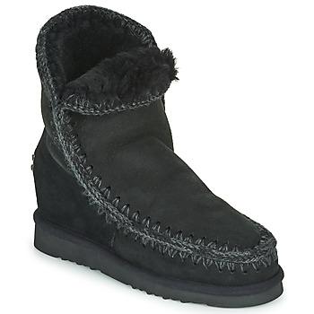 Παπούτσια Γυναίκα Μπότες Mou ESKIMO INNER WEDGE SHORT Black