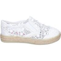 Παπούτσια Κορίτσι Slip on Asso slip on tessuto bianco