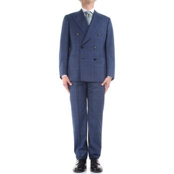 Υφασμάτινα Άνδρας Κοστούμια Cesare Attolini S20WA30 B12 Blue