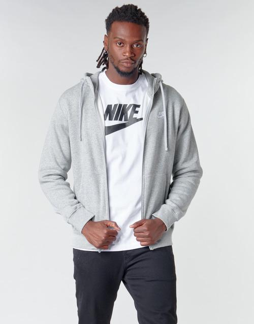 Υφασμάτινα Άνδρας Φούτερ Nike M NSW CLUB HOODIE FZ BB Grey