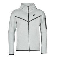 Υφασμάτινα Άνδρας Σπορ Ζακέτες Nike M NSW TCH FLC HOODIE FZ WR Grey / Black