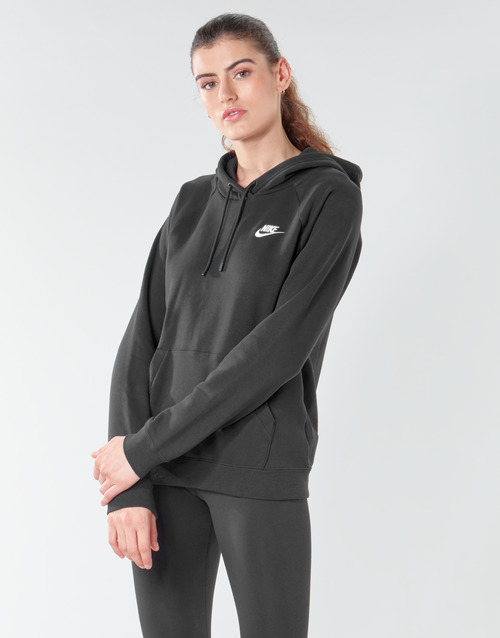 Υφασμάτινα Γυναίκα Φούτερ Nike W NSW ESSNTL HOODIE PO FLC Black