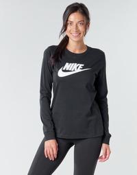Υφασμάτινα Γυναίκα Μπλουζάκια με μακριά μανίκια Nike W NSW TEE ESSNTL LS ICON FTR Black