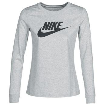 Υφασμάτινα Γυναίκα Μπλουζάκια με μακριά μανίκια Nike W NSW TEE ESSNTL LS ICON FTR Grey