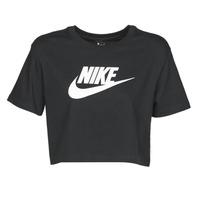 Υφασμάτινα Γυναίκα T-shirt με κοντά μανίκια Nike W NSW TEE ESSNTL CRP ICN FTR Black
