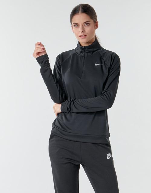 Υφασμάτινα Γυναίκα Μπλουζάκια με μακριά μανίκια Nike W NK PACER HZ Black