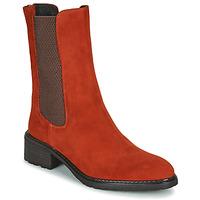 Παπούτσια Γυναίκα Μπότες Regard DAMGAN V2 VELOURS CHATAIGNE Red