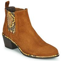 Παπούτσια Γυναίκα Μποτίνια Regard NOISY V2 VELOURS SAFRAN Brown