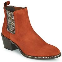 Παπούτσια Γυναίκα Μποτίνια Regard NOISY V3 VELOURS TUILE Red
