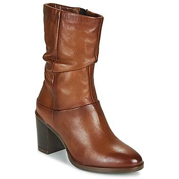 Παπούτσια Γυναίκα Μπότες για την πόλη Dream in Green NORGE Camel