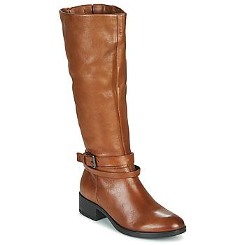 Παπούτσια Γυναίκα Μπότες για την πόλη Dream in Green NOURON Camel