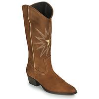 Παπούτσια Γυναίκα Μπότες για την πόλη Fericelli NISCOME Camel / Gold
