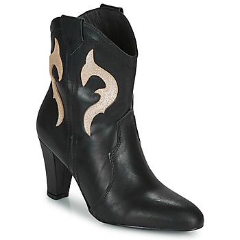 Παπούτσια Γυναίκα Μποτίνια Fericelli NARLOTTE Black / Gold