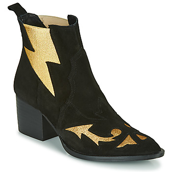 Παπούτσια Γυναίκα Μποτίνια Fericelli NAUSSON Black / Gold