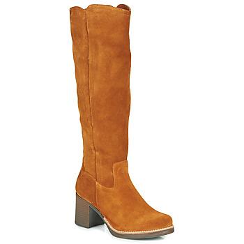 Παπούτσια Γυναίκα Μπότες για την πόλη Casual Attitude HAPI Camel