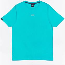 Υφασμάτινα Αγόρι T-shirt με κοντά μανίκια Wrung T-shirt  Caution Reload bleu turquoise/bleu
