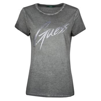 Υφασμάτινα Γυναίκα T-shirt με κοντά μανίκια Guess SS CN IVONNE TEE Black