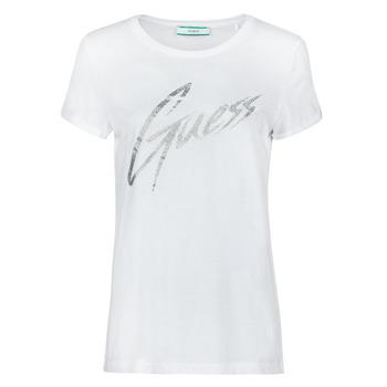 Υφασμάτινα Γυναίκα T-shirt με κοντά μανίκια Guess SS CN IVONNE TEE Άσπρο