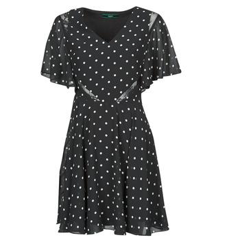 Υφασμάτινα Γυναίκα Κοντά Φορέματα Guess ELLA DRESS Black / Άσπρο