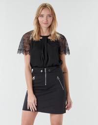 Υφασμάτινα Γυναίκα Μπλούζες Guess GERDA Black