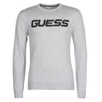Υφασμάτινα Άνδρας Πουλόβερ Guess LOGO SWEATER Grey