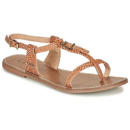 Παπούτσια Γυναίκα Σανδάλια / Πέδιλα Les Petites Bombes ZHOEF Camel