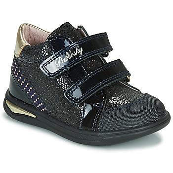 Παπούτσια Κορίτσι Ψηλά Sneakers Pablosky 87529 Marine