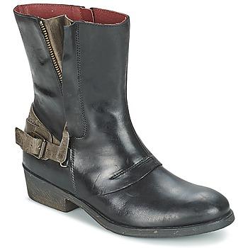 Παπούτσια Γυναίκα Μπότες Kickers AMERIKO Black / Grey
