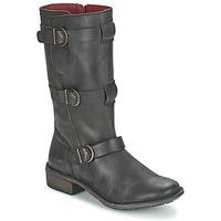 Παπούτσια Γυναίκα Μπότες για την πόλη Kickers GROWUP Black