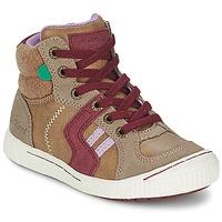 Παπούτσια Κορίτσι Ψηλά Sneakers Kickers ZIGUERS Beige / BORDEAUX