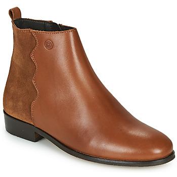 Παπούτσια Γυναίκα Μπότες Betty London HELOI Camel