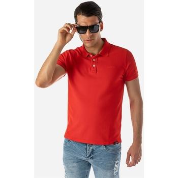 Υφασμάτινα Άνδρας Πόλο με κοντά μανίκια  Brokers ΑΝΔΡΙΚΟ POLO Κόκκινο