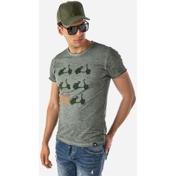 Υφασμάτινα Άνδρας T-shirt με κοντά μανίκια Brokers ΑΝΔΡΙΚΟ T-SHIRT ΧΑΚΙ GREEN VESPA ΧΑΚΙ