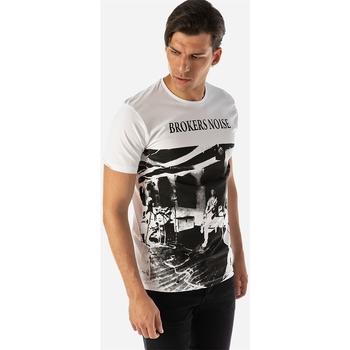 Υφασμάτινα Άνδρας T-shirt με κοντά μανίκια Brokers ΑΝΔΡΙΚΟ T-SHIRT Λευκό