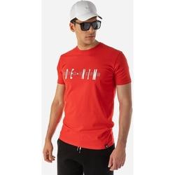 Υφασμάτινα Άνδρας T-shirt με κοντά μανίκια Brokers ΑΝΔΡΙΚΟ T-SHIRT Κόκκινο